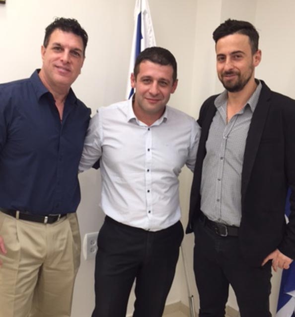 With Director General of Misrad Aliya & Integration Alex Kushnir At the Knesset